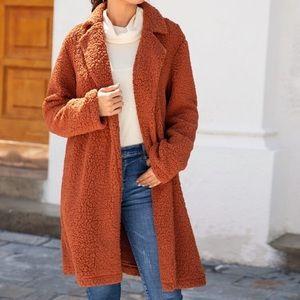 sherpa cardigan/coat